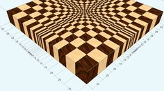 "3D end grain cutting board #1 to make with the use of 13"" planer (versio..."
