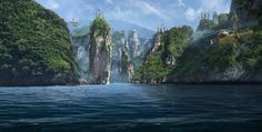 The Island by edit ballai | Matte Painting | 2D | CGSociety