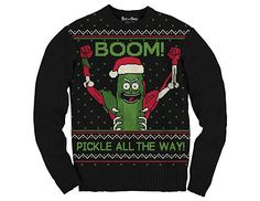 Ripple Junction Rick and Morty Boom Pickle Rick Adult Ugly Sweater Couples Christmas Sweaters, Couple Christmas, Cute Christmas Sweater, Black Christmas, Diy Christmas, Rick And Morty, Ugly Sweater, Sweater Outfits, Being Ugly