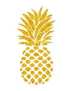 FREE pineapple digital art printable, golden pineapple download, free printables, tropical printable, http://www.mishmashbyash.com/?p=42