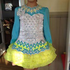 Stunning Elevation Design Irish Dance Dress Solo Costume For Sale