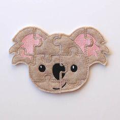 Felt+Kids+Puzzle++Koala+Bear++Toddler+Shape+by+AnnsCraftHouse,+$6.00