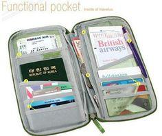moda quente capa de passaporte multifuntion passaporte titular cartão titular em Porta Cartão e Identidade de Mochilas & bagagem no AliExpre...