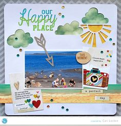 (image) Scrapbook Layout 'Our Happy Place'