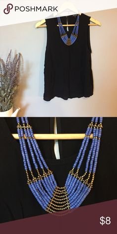 Bright blue necklace This is a fun necklace that can spice up any outfit.  It's very light weight. Urban Outfitters Jewelry Necklaces