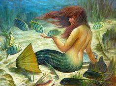 "sailorgil:    "" Mermaid Lagoon ""… Artist: John Carroll Doyle, Charleston, SC  Artist's Website: http://www.johncdoyle.com/default.asp"