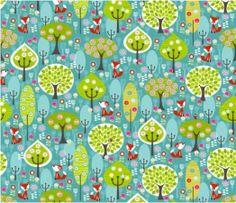 Tissu tour de lit et gigoteuse forêt du petit renard : Linge de lit enfants par les-p-tites-merveilles-de-berenice