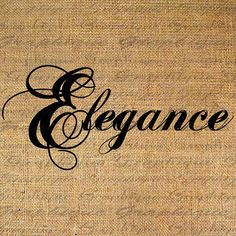 ELEGANCE Digital Collage Sheet Download Burlap Fabric by Graphique