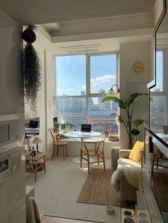 Deco Studio, Minimalist Apartment, Minimalist House, Apartment Interior Design, Korean Apartment Interior, Japanese Apartment, Interior Livingroom, Kitchen Interior, Room Interior