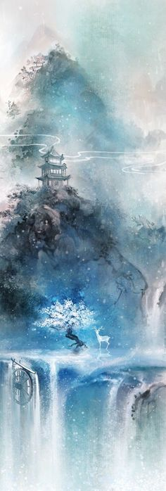 Ideas For Fantasy Landscape Art Drawing Scenery Fantasy Landscape, Landscape Art, Landscape Wallpaper, Winter Landscape, Landscape Design, Anime Kunst, Fantasy Kunst, Wow Art, Anime Scenery