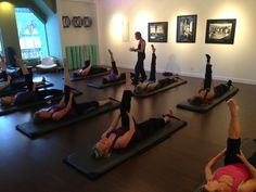 Debora Kolwey teaching an advanced #Pilates mat class in #Canmore