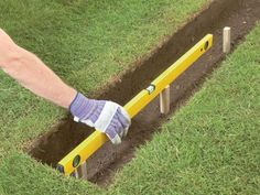 Lay Strip Footing: Check the Level