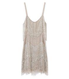 Kate Moss Topshop Gold Beaded Fringe Dress - Beaded Dress - ShopBAZAAR