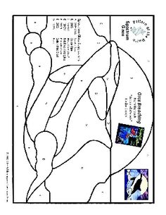 Free Stained Glass Pattern 2326-Orca Breaching