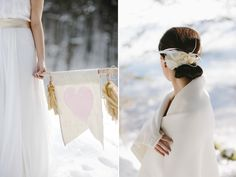 inspirations for pictures of a bride in the snow by Hanna Witte