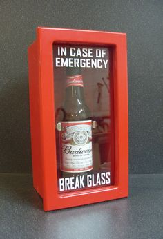 Emergency Beer Box Break Glass Emergency Box by CCBManufacturing, £19.99