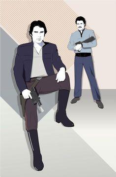 Star Wars - Han Solo and Lando Calrissian by Craig Drake *