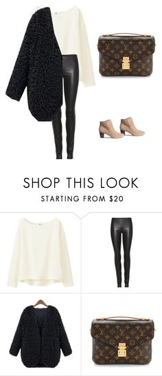 """Untitled #21"" by explorer-14499351471 on Polyvore featuring Uniqlo, The Row, WithChic, H&M and Louis Vuitton"