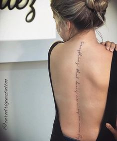 Forearm Tattoo Quotes, Quote Tattoos Girls, Girl Back Tattoos, Dainty Tattoos, Cute Tattoos, Body Art Tattoos, Small Tattoos, Tatoos, Back Tattoo Women Spine