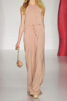 Nudes with attitude  Crepe maxi dress by Mulberry