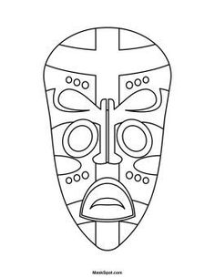 Printable African Mask - symmetry