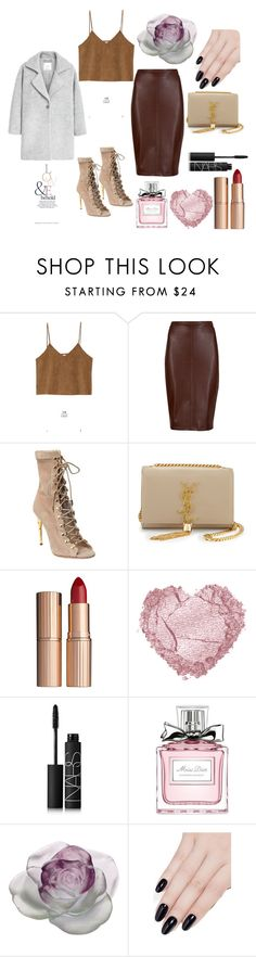 """Untitled #40"" by natalieordnz on Polyvore featuring Goroke, M&S Collection, Balmain, Yves Saint Laurent, Charlotte Tilbury, NARS Cosmetics, Christian Dior, Daum, ncLA and MANGO"