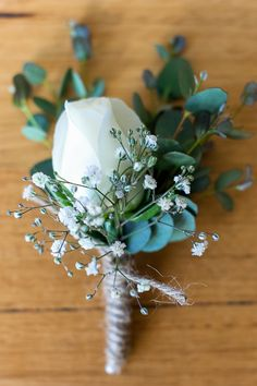 White-Rose-Babys-Breath-Blue-Gum-Button-Hole-with-Twine.jpg 480×720 pixels
