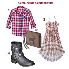 Grunge Goddess on #FashionTrendGuide glam grunge fashion trend, grunge luxe fashion trend #TargetStyle