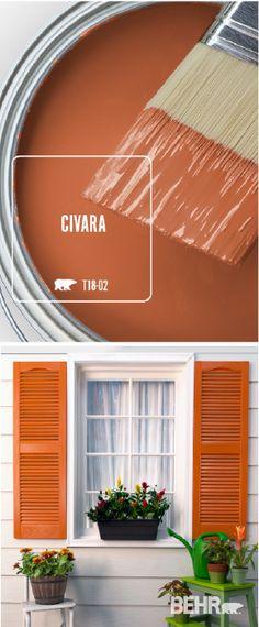 44 Ideas Exterior Paint Colors For House Trim Colour Best Bedroom Paint Colors, Modern Paint Colors, Modern Color Schemes, Exterior Paint Colors For House, Paint Colors For Home, Orange Paint Colors, Orange Front Doors, Front Door Colors, Wall Colors