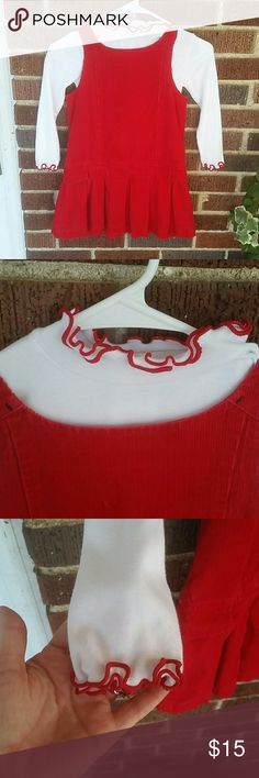 Sonoma Corduroy Dress with Bonnie Jean Blouse This dress and blouse are in excellent condition! Perfect red for Christmas! Dresses Casual