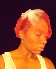 Hand dyed Ombre Wedding Veil Pink Blue Black or any by Beyondaveil, $30.00