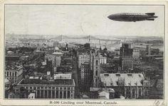 R101 circling above Montreal, 1930.