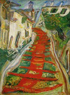 Chaim Soutine - Escalier rouge à Cagnes
