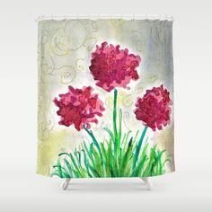 FANTASY FLOWERS Shower Curtain by Yasserart | Society6