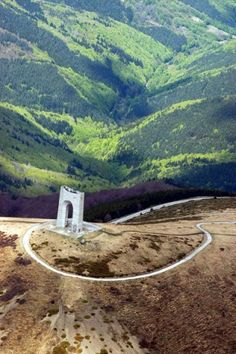 The Freedom monument at Beklemeto peak in Bulgaria! I was Skydiving above this today!
