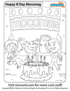 happy birthday mocomag online jojo colouringpage for kids free printable coloring pages for - Cool Stuff To Print Out