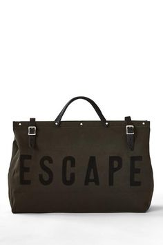 Forestbound ESCAPE Canvas Utility Bag in Olive Travel Necessities cd3fa5315bf