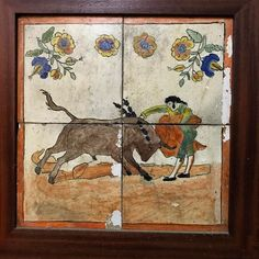 Ceramic Tiles painted by #Picasso when he was only 8 years old #jerez  . . #experiencethespainyouneverknew #tomaandcoe #andalucia #sherry