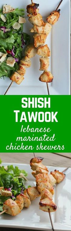 Make this Lebanese favorite at home! Shish Tawook will soon be you go-to chicken recipe. Get the recipe on RachelCooks!