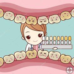 Woman dentist uses dental table — Stock Illustration Happy Dental, Dental Kids, Dental Art, Humor Dental, Dental Hygiene, Dental Health, Cosmetic Dental Surgery, Cosmetic Dentistry Procedures, Amil Dental
