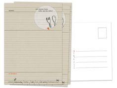 Rezeptepostkarten, Rezeptkarten, u.a. für Hochzeitsspiel, 3-100 Stück