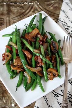 Nothing Is Lost And Sauteed Green Beans With Bacon And Mushrooms | My Friend's Bakery