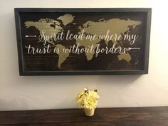 Wood Sign Spirit Lead Me to Where My Trust Is by BurmaBoutique