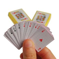 Look at this Miniature Playing Card Deck - Set of 24 on today! 1960s Toys, Retro Toys, Carnival Supplies, Party Supplies, Party Supply Store, Deck Of Cards, Card Deck, Novelty Toys, Indoor Activities