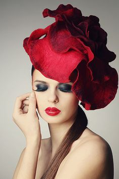 Rose fascinator hat in scarlet  Is YOUR business getting noticed?    Get listed for FREE!!!    Advertising starts at only $2.95.    It's easy, quick, and simple to get listed today!    Visit us at hairnewsnetwork.com    Hair News Network.    All Hair. All The Time.