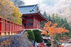 Chuzenji Temple, Nikko, Japan in late autumn