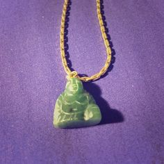 Jade Buddha necklace Real jade Buddha on gold chain necklace. Gold chain isn't marked from what I can see. Original price is what I paid for the Buddha alone. Gold Chains, Jade, Buddha, Jewelry Necklaces, Fashion Design, Fashion Trends, Pendant Necklace, Gifts, Accessories