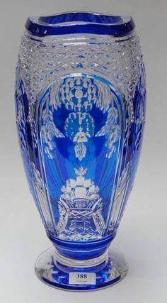 Val St Lambert - Vase ADP9 - Pièce créée pour l'Exposition des Arts Décoratif de Paris de 1925.