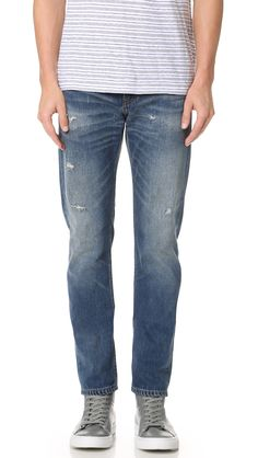 CLUB MONACO Distressed Slim Jeans. #clubmonaco #cloth #jeans