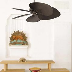 Fascinating Modern Ceiling Fans Design: Stunning Retractable Blade Ceiling Fan Design With Statue Dwarves Ideas ~ gtrinity.com Ceiling Inspiration